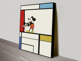mickey mouse and mondrian pop art