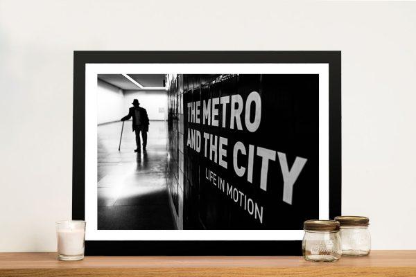 Life in Motion Black & White Art Home Decor AU