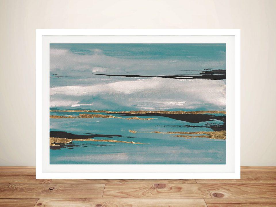 Gilded Storm Teal Grey III Canvas Print Online Sale