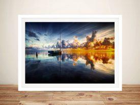 Sunset Sailboats Framed Wall Art