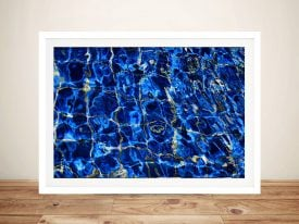 Noel Buttler Blue Ripple Australian Wall Art