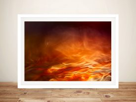 Burning water abstract Norway Framed Wall Art