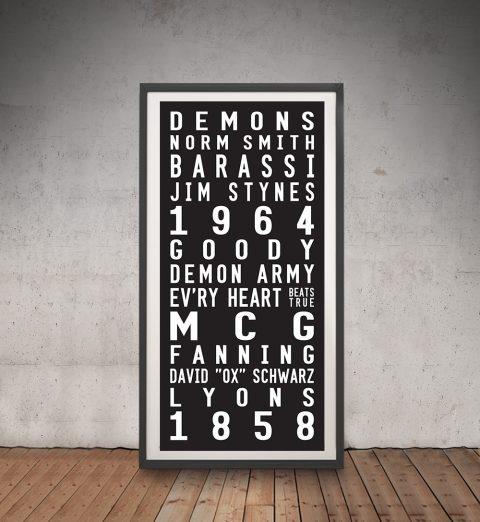 Melbourne Demons Framed Wall Art