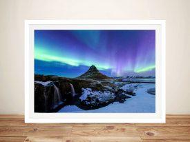 Iceland aurora northern lights Framed Wall Art
