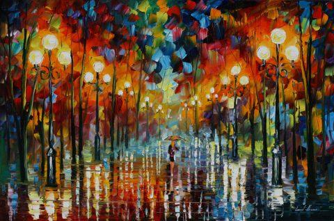 A DATE WITH THE RAIN Afremov Art