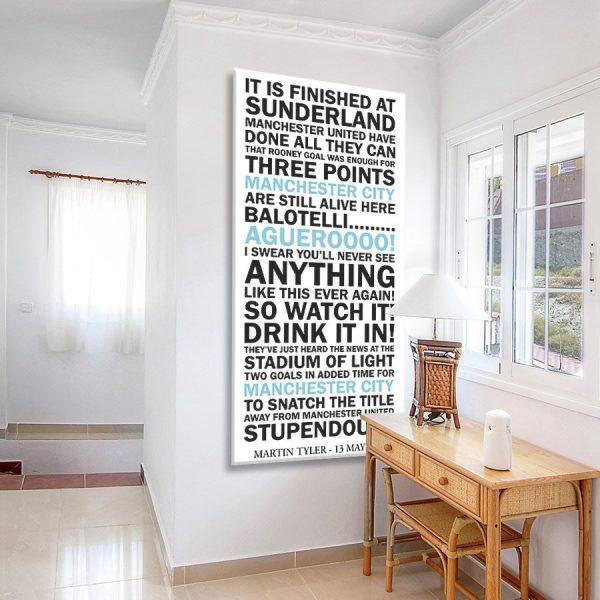 Manchester City Victory Celebration Artwork