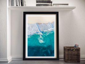 Riptide Aerial Photo Framed Wall Art Prints