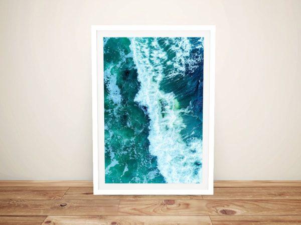 Avalon Surf Break Framed Wall Art