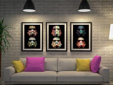 Stormtrooper Split Canvas Artwork Australia