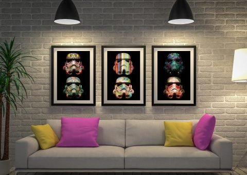 Stormtrooper Split Canvas Artwork Australia