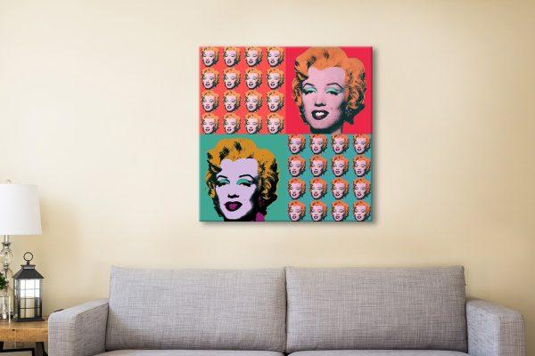Marilyn Monroe Warhol Collage Canvas Artwork