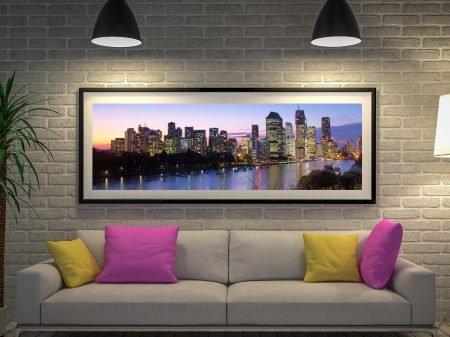 Brisbane Skyline Panoramic Wall Art Australia
