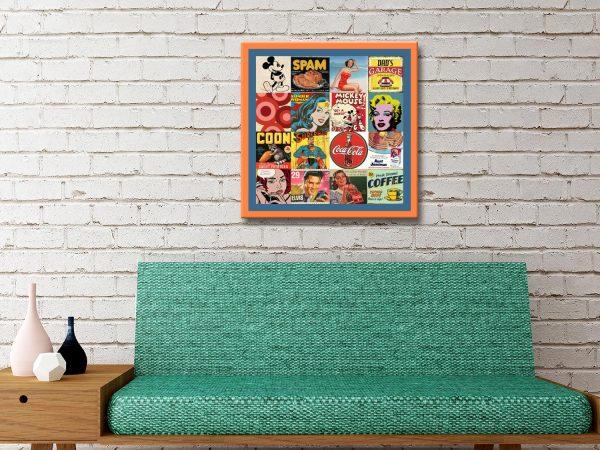 Retro Pop Art on Canvas