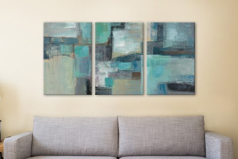 Buy Sea Foam Affordable Triptych Canvas Prints