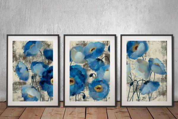 Buy Silvia Vassileva Floral Triptych Wall Art