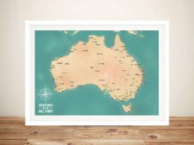 Personalised Green Australia Push Pin Map Art