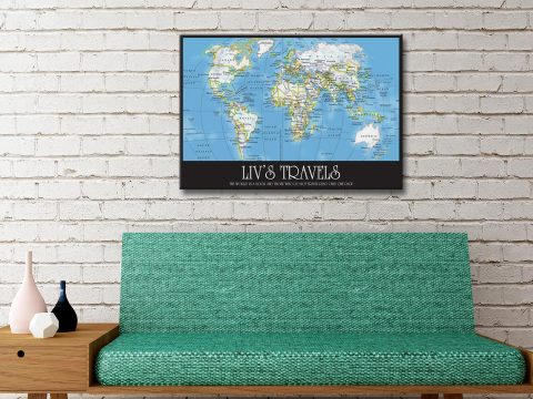 Personalised Map Framed Canvas Artwork