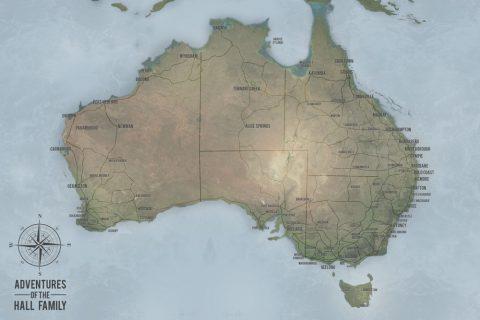 Customisable Words Australian Word Art Push Pin Travel Map Artwork