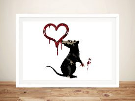 Banksy Rat Graffiti Canvas Posters Prints