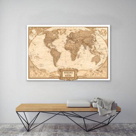 Globetrotter Adventure Map canvas print