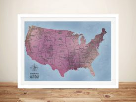 Custom Map Art Framed Wall Art