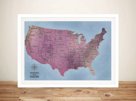 Custom Map Art Framed Wall Art