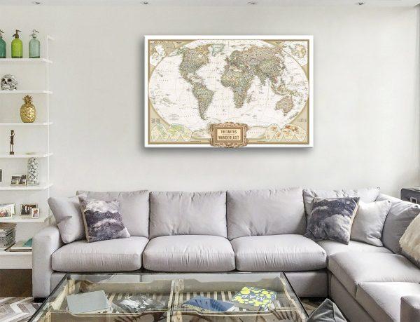 Customisable Push Pin World Map Art Australia