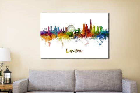 London Skyline Canvas Artwork Australia