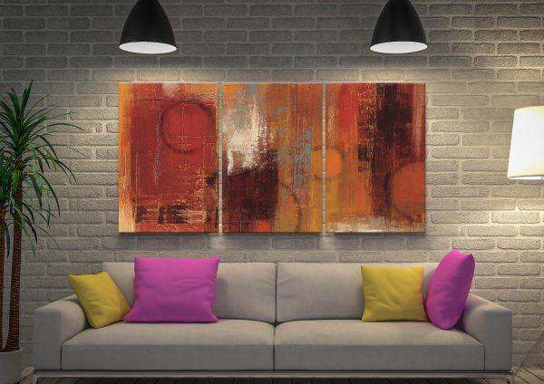 Pentatonic 3-Piece Contemporary Artwork