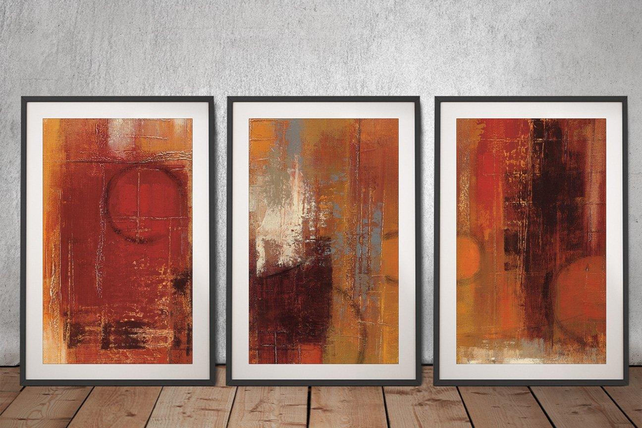 Silvia Vassileva Abstract Triptych Art for Sale