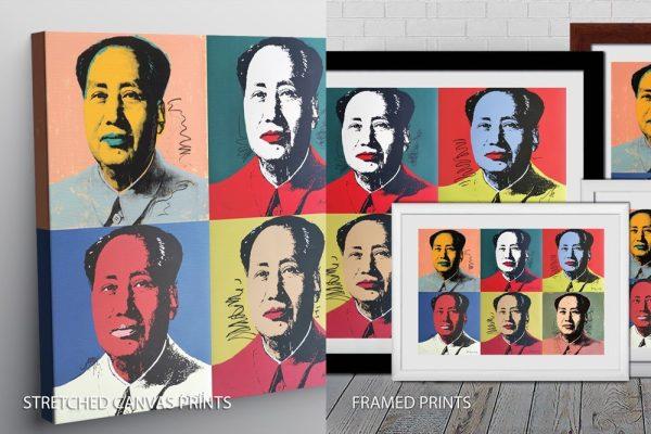 Andy Warhol Mao 6 Panels Quality Print