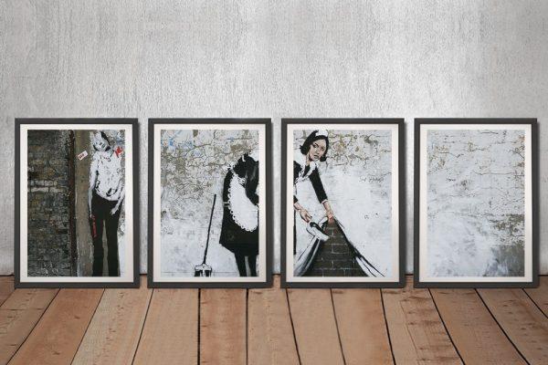 Banksy Maid Quad Split Art Gift Ideas AU