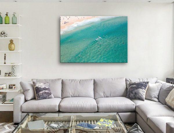 Bondi Beach aerial Canvas Artwork