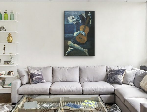 Old Guitarist Chicago Picasso Print