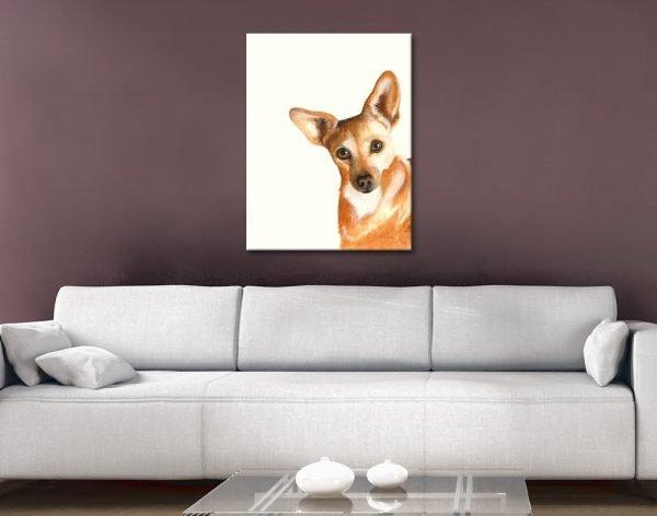 Xena the Corgi Ready to Hang Animal Art