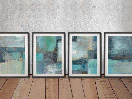 Buy Sea Foam a Four Piece Artwork Wall Print