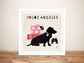 LA Pooch Canvas Prints