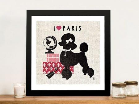 Paris Pooch Canvas Wall Art