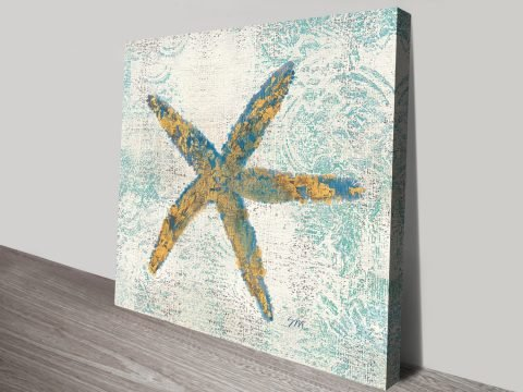 Starfish Artwork Perfect For Beach Themed Rooms