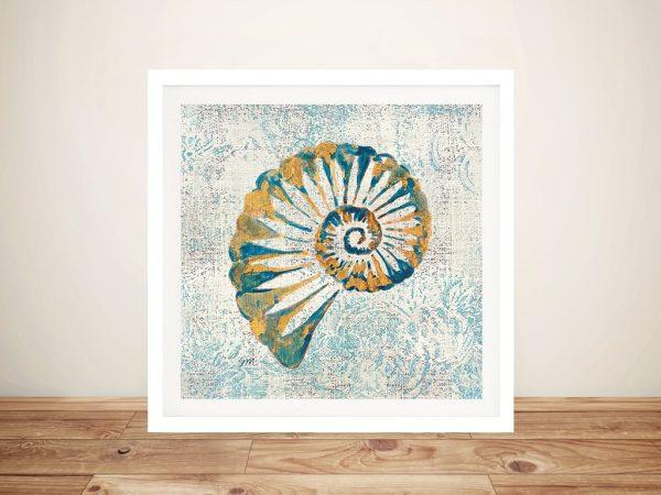 Coastal Beauty - Seashell Canvas Wall Art