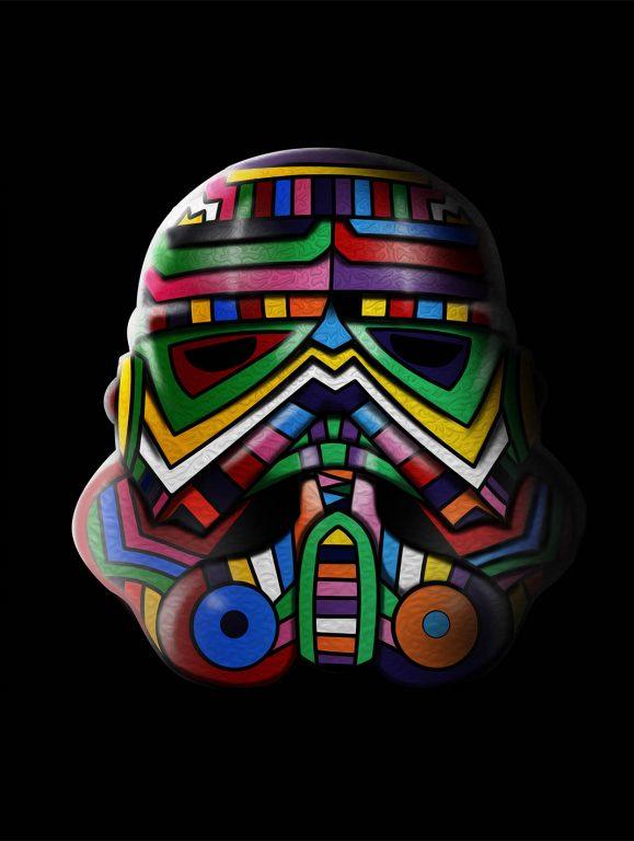 Aztec Stormtrooper Star Wars Art Australia