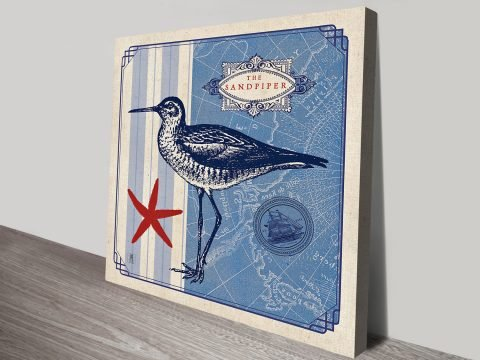 Delightful Blue And White Bird Wall Art