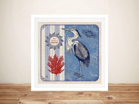 Sea Bird - Great Heron Canvas Prints Online