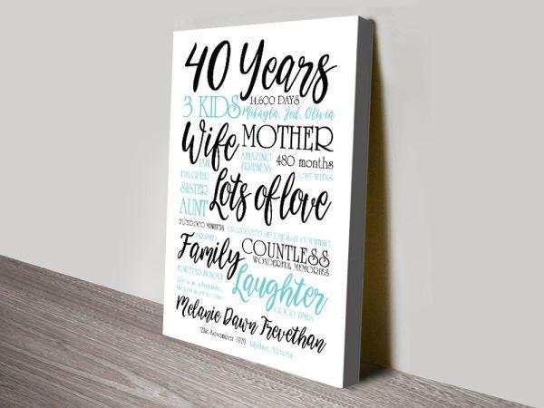 Wedding Anniversary Word Art Gift