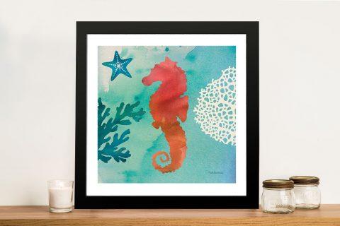 Under The Sea - Seahorse Canvas Prints
