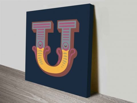 Ornate Letters Canvas