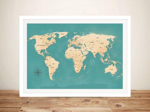 Custom Push Pin Travel World Map Word Picture Wall Art