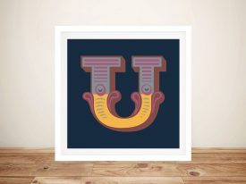 Carnival Letter 'U' Canvas Wall Art