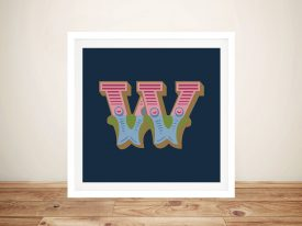 Carnival Letter 'W' Canvas Wall Art