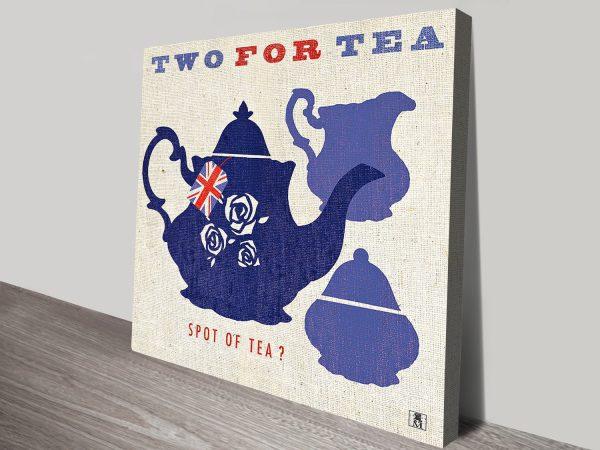 British Love Their Tea Wonderful Wall Art